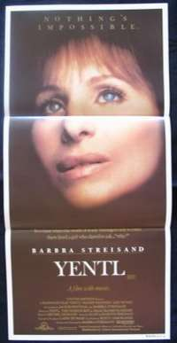 Yentl Barbara Streisand Mandy Patkin Daybill movie poster