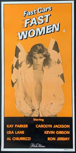 Fast Cars Fast Women Poster Original Daybill Rolled Blake Films Sexploiatation