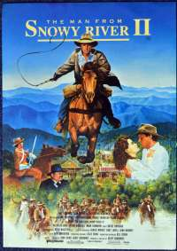 The Man From Snowy River II 1988 Rare Cinema Flyer Tom Burlinson Sigrid Thornton