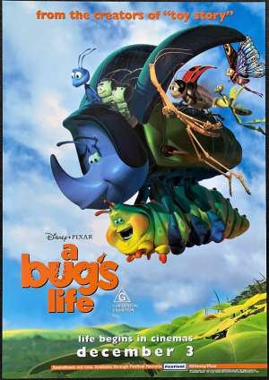 A Bugs Life Poster Original One Sheet 1998 Disney Kevin Spacey Jonathan Harris
