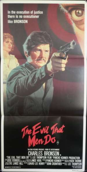 The Evil That Men Do 1984 Daybill movie poster Charles Bronson Theresa Saldana