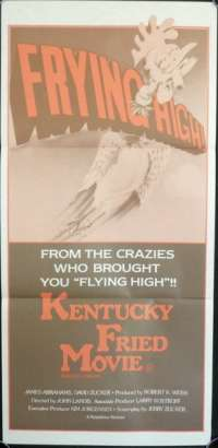 Kentucky Fried Movie Movie Poster Daybill John Landis Rare Plane Art