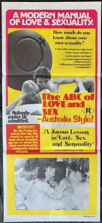 ABC Of Love And SEX - Australia Style movie poster Ozploitation Daybill