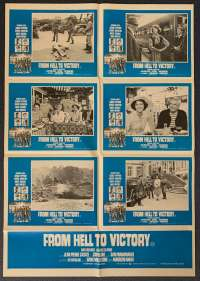 From Hell To Victory Poster Original Photosheet 1979 George Peppard George Hamilton