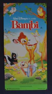 Bambi movie poster Daybill Original Disney 1991 Re-Issue