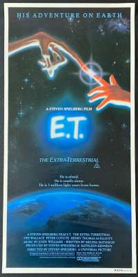 E.T. The Extra-Terrestrial 1982 Daybill movie poster First release Alvin Art RARE NO FOLDS