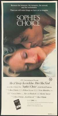 Sophie's Choice Daybill Poster Original 1982 Rolled Never Folded 1982 Meryl Streep