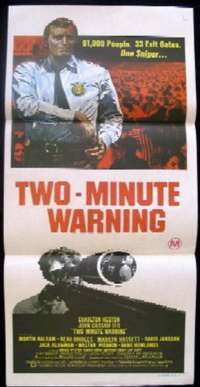 Two Minute Warning Daybill Movie poster