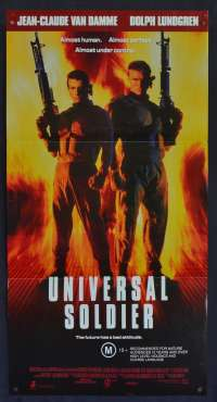 Universal Soldier Movie Poster Original Daybill Jean-Claude Van Damme