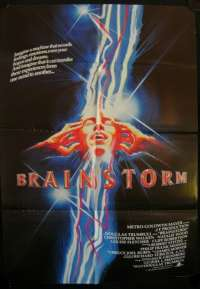 Brainstorm Movie Poster Original One Sheet 1983 Natalie Wood Christopher Walken