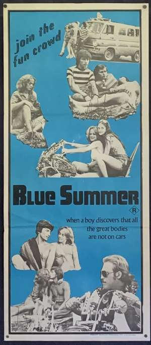Blue Summer Poster Original Daybill 1973 Aka Love Truck Chuck Vincent Sexploitation