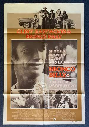 Bronco Billy Poster Original One Sheet 1980 Clint Eastwood Western