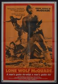 Lone Wolf McQuade poster One Sheet Chuck Norris martial arts