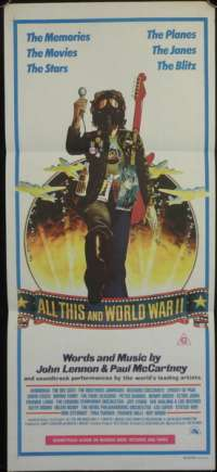 All This And World War II Two Poster Beatles Australian Daybill Movie poster