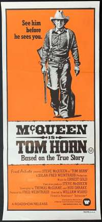 Tom Horn Movie Poster Original Daybill 1980 Steve McQueen Linda Evans