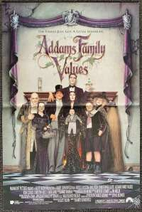 Addams Family Values Movie Poster Original Daybill 1993 Raul Julia Anjelica Huston