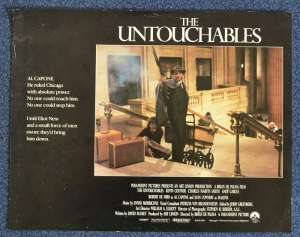 The Untouchables Lobby Card USA 11x14 Original Kevin Costner Sean Connery