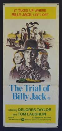 The Trial Of Billy Jack Poster Original Daybill 1974 Delores Taylor Tom Laughlin