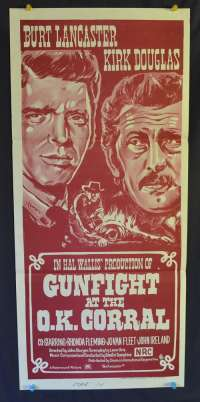 Gunfight At The Ok Corral Burt Lancaster Kirk Douglas Daybill movie poster
