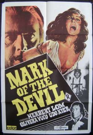 Mark Of The Devil Poster Original One Sheet 1972 Herbert Lom Horror