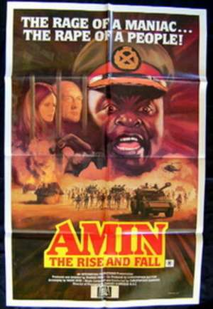 Amin The Rise And Fall Movie Poster Original One Sheet 1981 Idi Amin Uganda