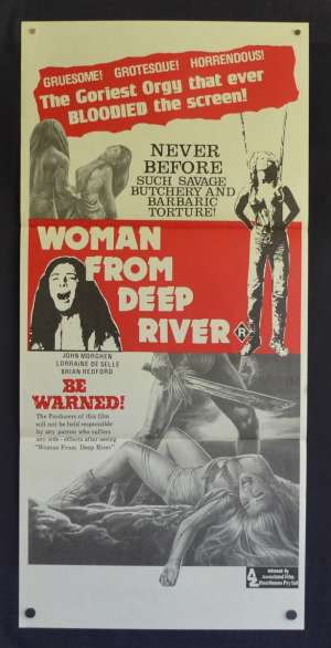 Woman From Deep River Poster Original Daybill Cannibal Ferox Make Them Die Slowly