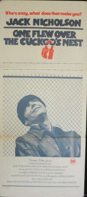 One Flew Over The Cuckoo's Nest Poster Original Daybill 1975 Jack Nicholson