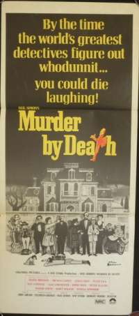 Murder By Death Peter Falk Alec Guinness Daybill movie poster