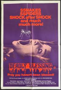 Deadly Blessing 1981 One Sheet movie poster Sharon Stone Wes Craven Ernest Borgnine