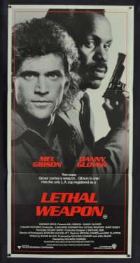 Lethal Weapon Movie Poster Original Daybill 1987 Mel Gibson Danny Glover