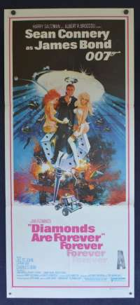 Diamonds Are Forever Sean Connery James Bond Daybill movie poster