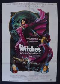 The Witches Poster Original One Sheet 1990 Anjelica Huston Roald Dahl