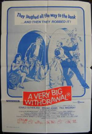 A Very Big Withdrawal One Sheet Australian Movie poster