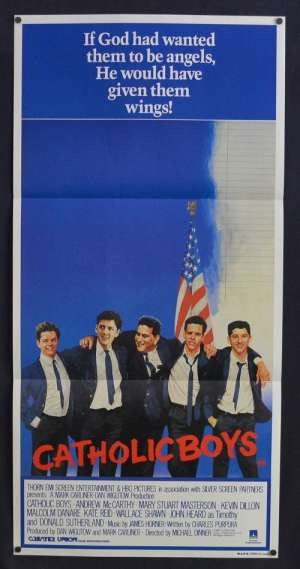 Catholic Boys 1985 Daybill movie poster Heaven Help Us Andrew McCarthy