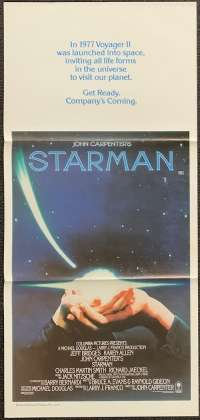 Starman movie poster Jeff Bridges John Carpenter Daybill