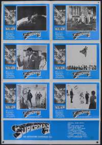 Superman 2 Movie Poster RARE Photosheet Christopher Reeve Gene Hackman