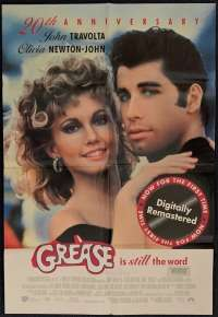 Grease Poster Original One Sheet 1998 20th Anniversary Re-Issue