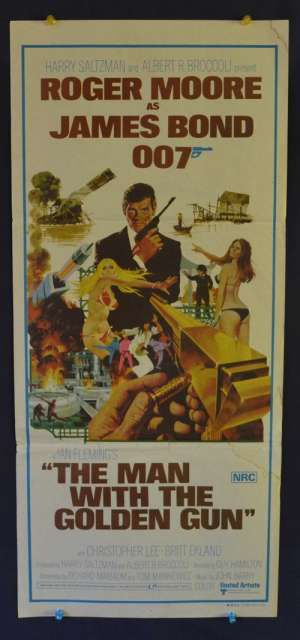 The Man With The Golden Gun Daybill Poster 1974 Roger Moore James Bond