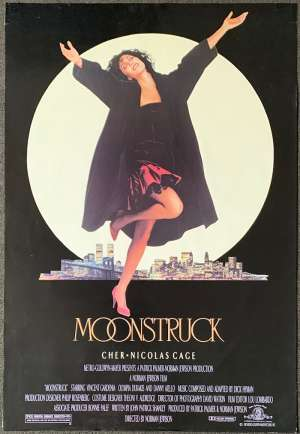 Moonstruck Movie Poster Original One Sheet Rolled 1987 Cher Nicolas Cage