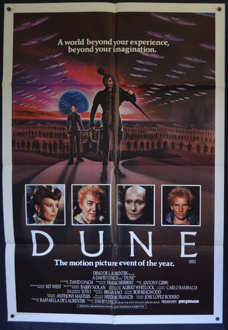 All About Movies Dune Poster Original One Sheet 1984 Rare Cast Art David Lynch Sting