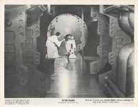 Star Wars Movie Still Reproduction B/W Princess Leia R2-D2 Droid