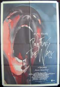 Pink Floyd The Wall One Sheet Australian Movie poster