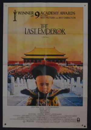 The Last Emperor Movie Poster One Sheet John Lone Peter O'Toole Puyi