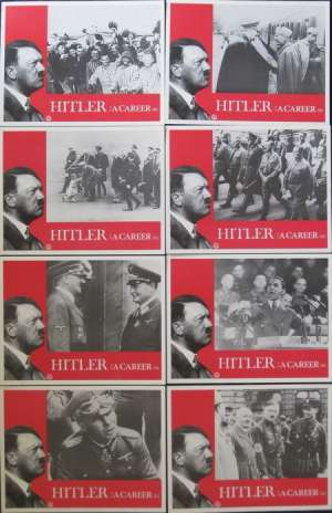 Hitler A Career Lobby Card 8 Set USA 11x14 Original 1977 War Documentary Nazis