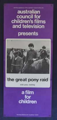 The Great Pony Raid 1968 Edward Underdown Children's Films And Television Daybill movie poster