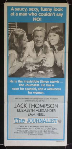 The Journalist Jack Thompson Sam Neill Australian Daybill movie poster
