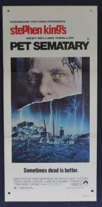 Pet Sematary Daybill movie poster Dale Midkiff Fred Gwynne