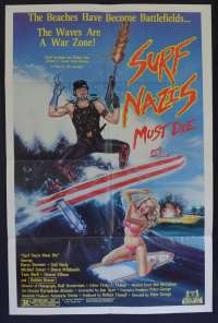 Surf Nazis Must Die 1987 movie poster one sheet Gail Neely Troma