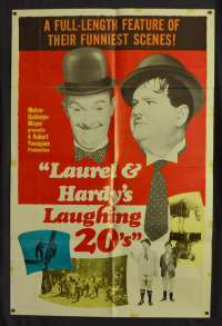 Laurel And Hardy's Laughing 20's Poster USA One Sheet Original 1965 Rare Art