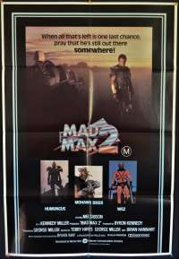 Mad Max 2 Movie Poster Original One Sheet 1981 Mel Gibson Road Warrior
